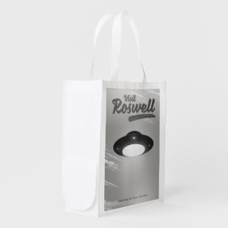 Visit Roswell UFO vintage poster Reusable Grocery Bag