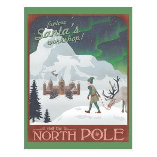 Visit Santa s workshop at the North Pole postcard