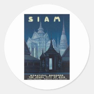 Visit Siam Poster Round Sticker