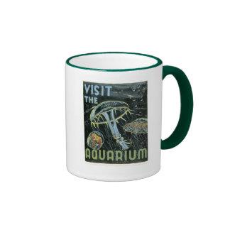 Visit the Aquarium - WPA Poster - Mugs