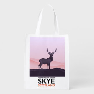 Visit the Beautiful Island of Skye Reusable Grocery Bag