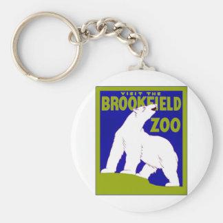 Visit the Brookfield Zoo ~ Vintage Zoo Key Ring