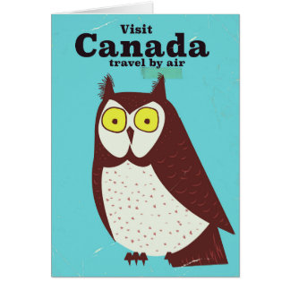 Visit the Canada Owl poster Card