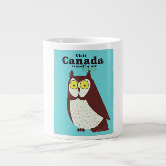 Visit the Canada Owl poster Large Coffee Mug