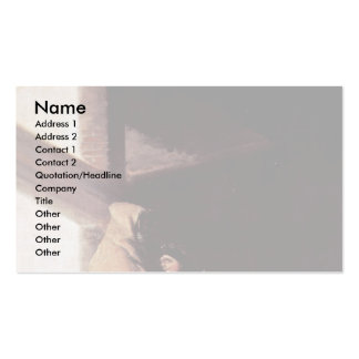 """Visit The Monk """" By Francisco De Goya Business Card Template"""