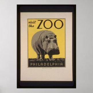 Visit The Philadelphia Zoo Poster