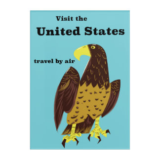 Visit the united States Travel poster Acrylic Print