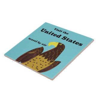 Visit the united States Travel poster Tile
