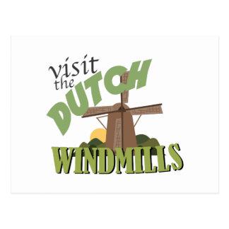 Visit The Windmills Postcard