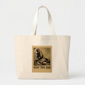 Visit The Zoo Large Tote Bag