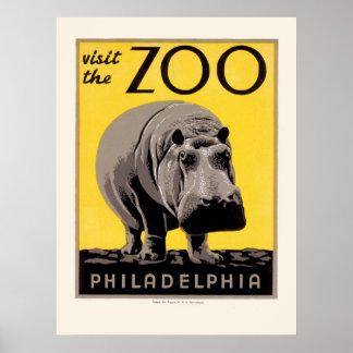 Visit the Zoo: Philadelphia Poster