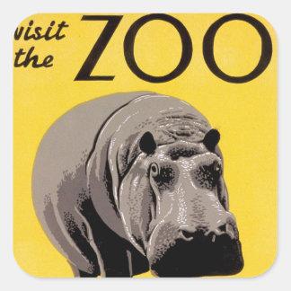 Visit the Zoo Square Sticker