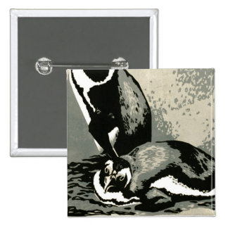 Visit the Zoo - WPA Poster - Pinback Buttons