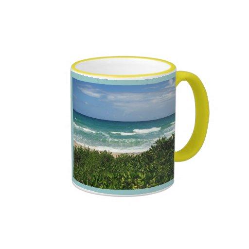 visit to the beach mug