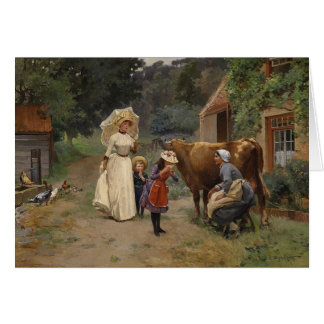 Visit to the Farm Card
