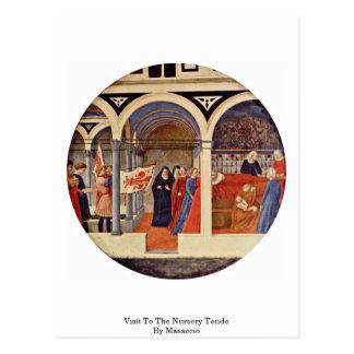 Visit To The Nursery Tondo By Masaccio Postcard