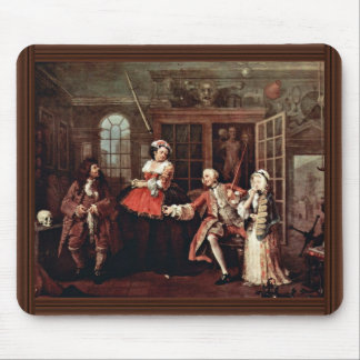 Visit To The Quack  By Hogarth William Mouse Pad