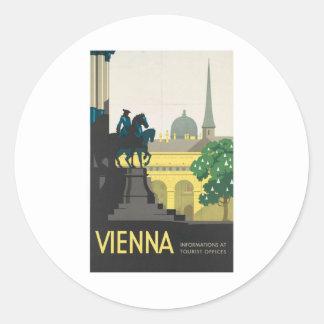 Visit Vienna Poster Round Sticker