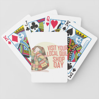 Visit Your Local Quilt Shop Day - Appreciation Day Bicycle Playing Cards