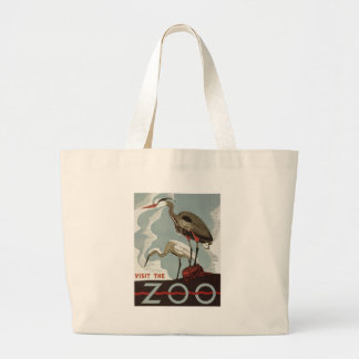 Visit Zoo Vintage Large Tote Bag