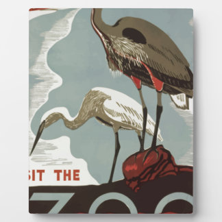 Visit Zoo Vintage Plaque
