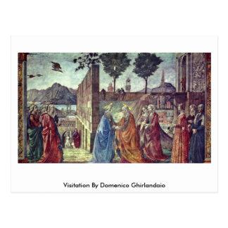 Visitation By Domenico Ghirlandaio Postcard