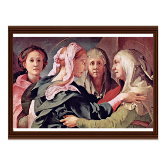 Visitation  By Pontormo Jacopo Postcard