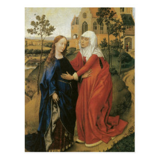 Visitation of Mary - Rogier Van Der Weyden Postcard