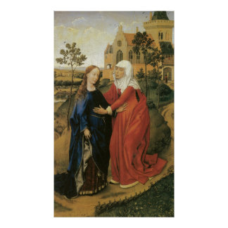 Visitation of Mary - Rogier Van Der Weyden Poster