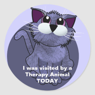 Visited by a Therapy Animal TODAY Round Sticker