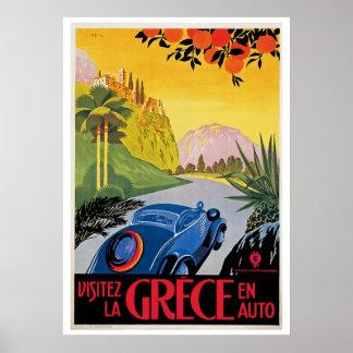 Visitez La Grece en Auto Poster