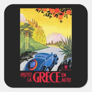 Visitez La Grece en Auto Square Sticker