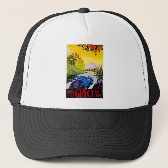 Visitez La Grece En Auto - Vintage Travel Poster Trucker Hat