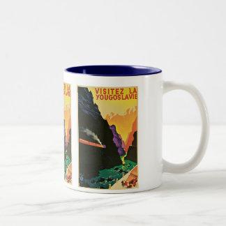 Visitez La Yougoslavie Coffee Mugs