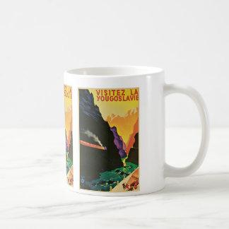 Visitez La Yougoslavie Basic White Mug