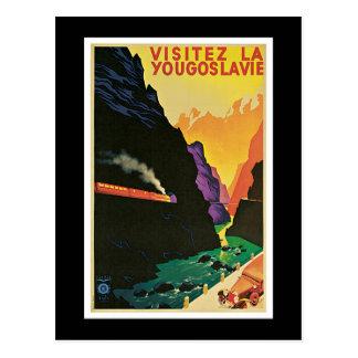 """Visitez la Yougoslavie"" Vintage Travel Poster Postcard"