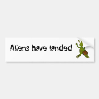 Visiting Alien Range Bumper Sticker