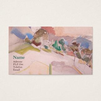Visiting card Anton Mahringer