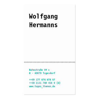Visiting card different papers pack of standard business cards