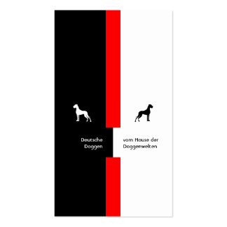 Visiting card Dogge Business Card