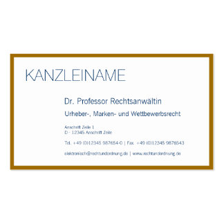 Visiting card edge of gold pack of standard business cards