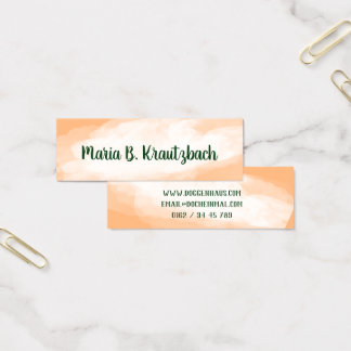 Visiting card finely water colors