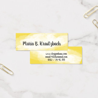 Visiting card finely water colors yellow