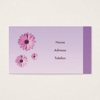 Visiting card flower Design