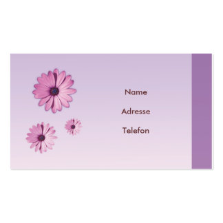 Visiting card flower Design Pack Of Standard Business Cards