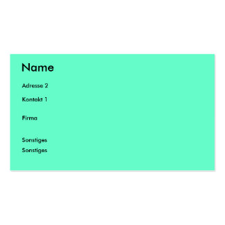 Visiting card pack of standard business cards
