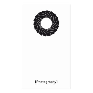 """Visiting card """"Photography """" Pack Of Standard Business Cards"""
