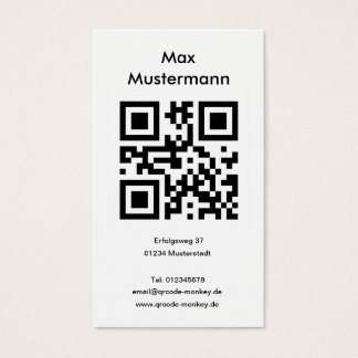 Visiting card, portrait format (individually business card