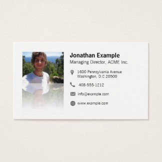 Visiting card with aileron code & elegant mirror