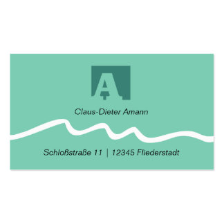 Visiting card with initial letters
